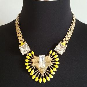 Stella & Dot Gold Yellow Rhinestone Necklace